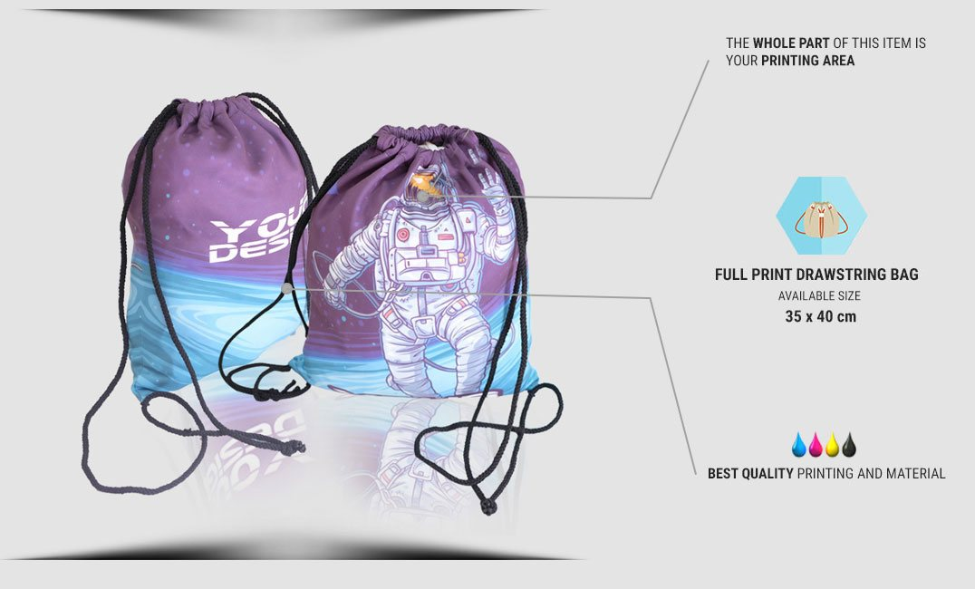 drawstring bag specification