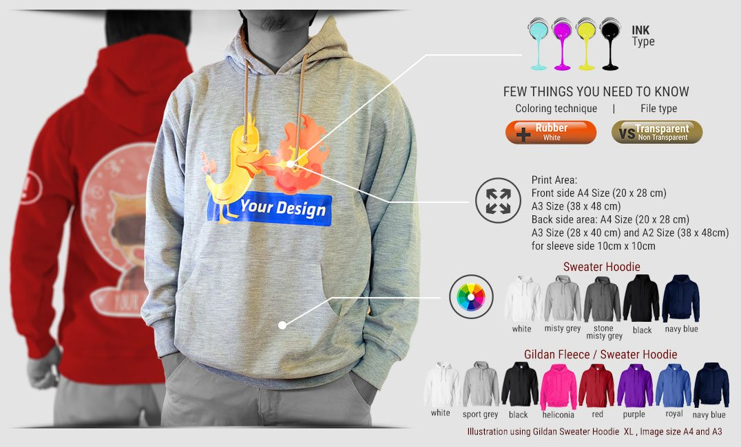 sweater hoodie specification