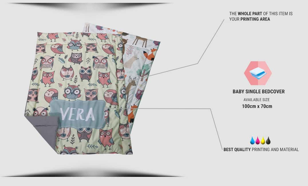 specification baby bed cover