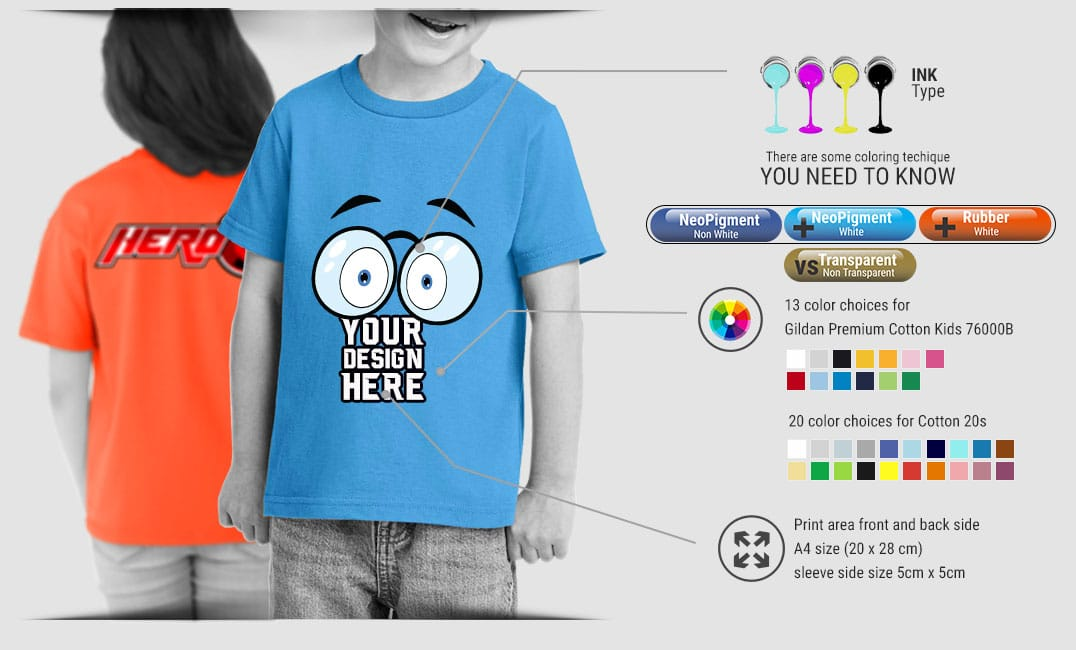 kids tshirt specification