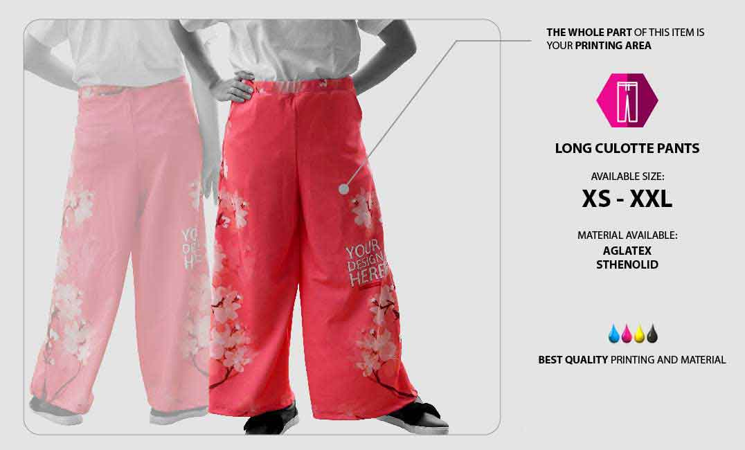 Long Cullotte Pants 1