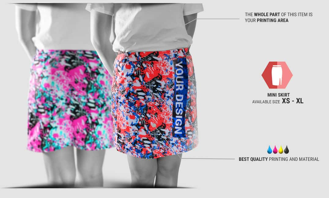 mini skirt specification