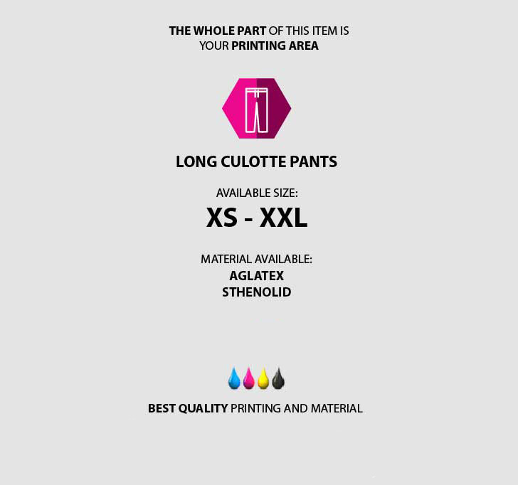 fullprint  Long Cullote pants 3